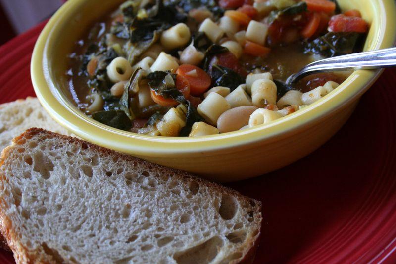 Soup + bread